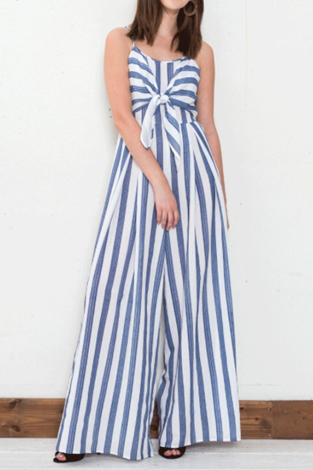 Flying Tomato Tie Front Jumpsuit - Main Image
