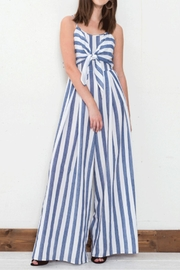 Flying Tomato Tie Front Jumpsuit - Front cropped