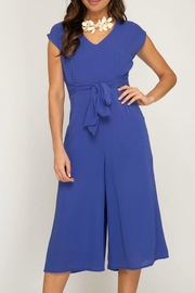 She + Sky Tie Front Jumpsuit - Product Mini Image