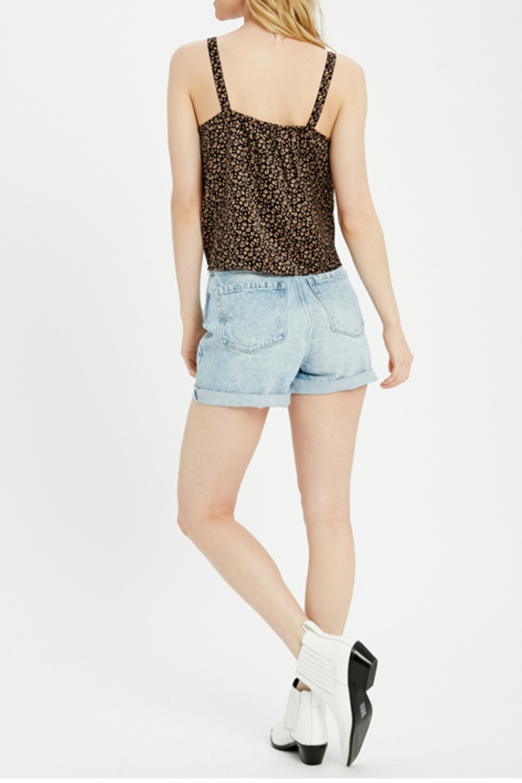 Wishlist Tie front knot top - Side Cropped Image