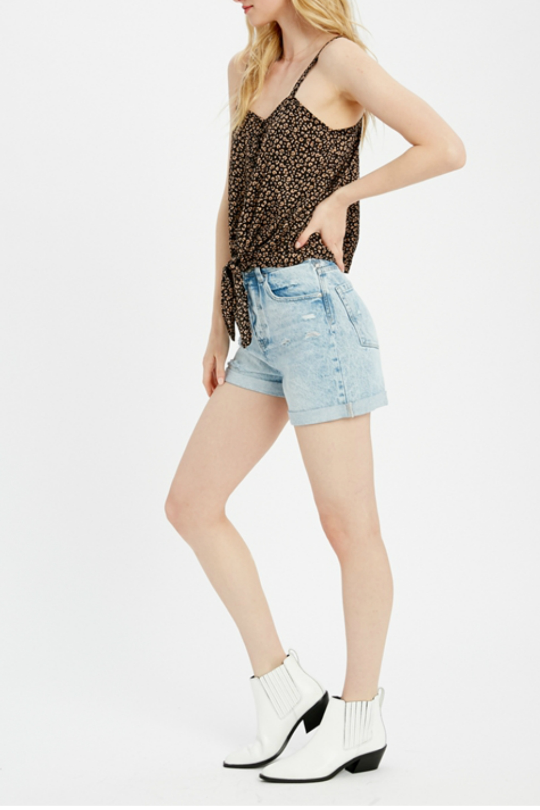 Wishlist Tie front knot top - Front Full Image