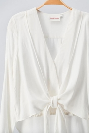 The Room Tie-Front Layered Blouse - Front full body