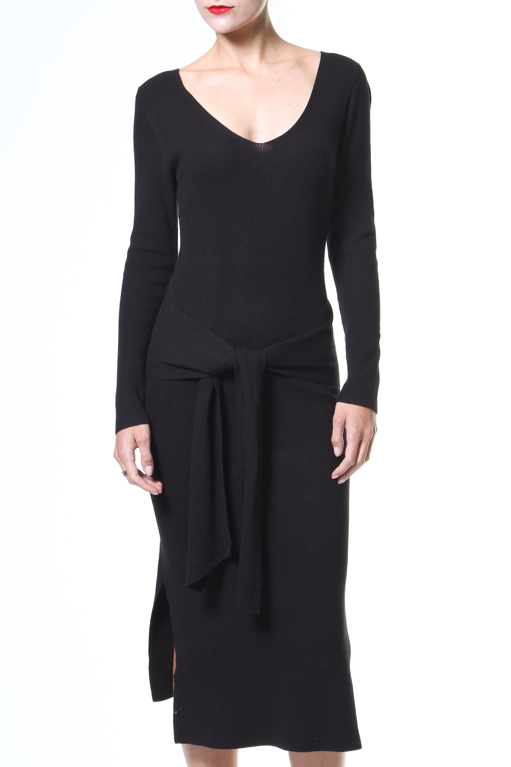 Madonna & Co Tie Front Lbd - Main Image