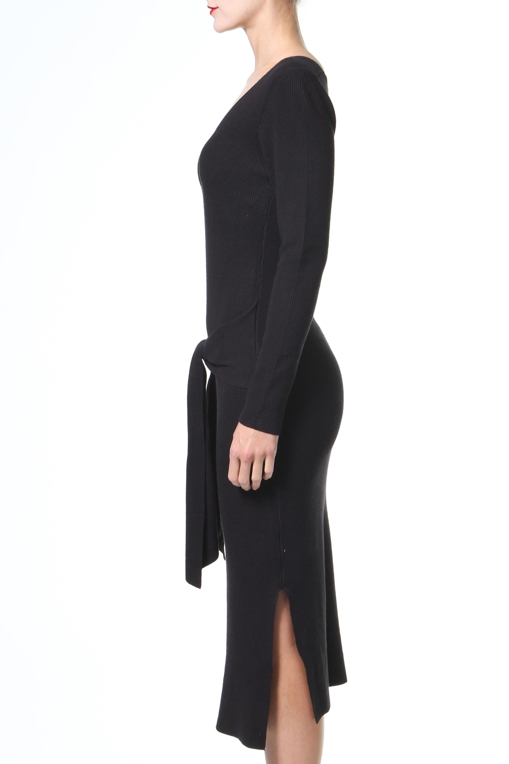 Madonna & Co Tie Front Lbd - Front Full Image