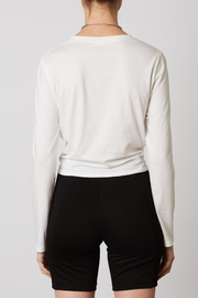 NIA Tie Front Long Sleeve Tee - Front full body