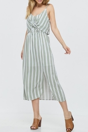 Papermoon Tie Front Midi Dress - Front cropped
