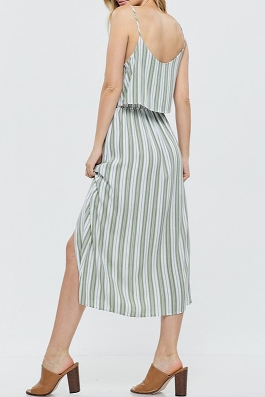 Papermoon Tie Front Midi Dress - Front Full Image