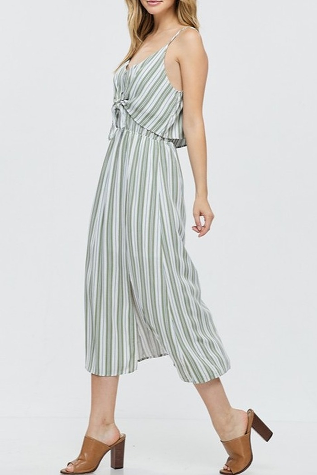Papermoon Tie Front Midi Dress - Side Cropped Image