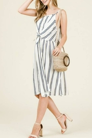 Hailey & Co Tie-Front Midi Dress - Product Mini Image