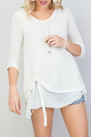 Main Strip Tie-Front Oversized Sweater - Product Mini Image