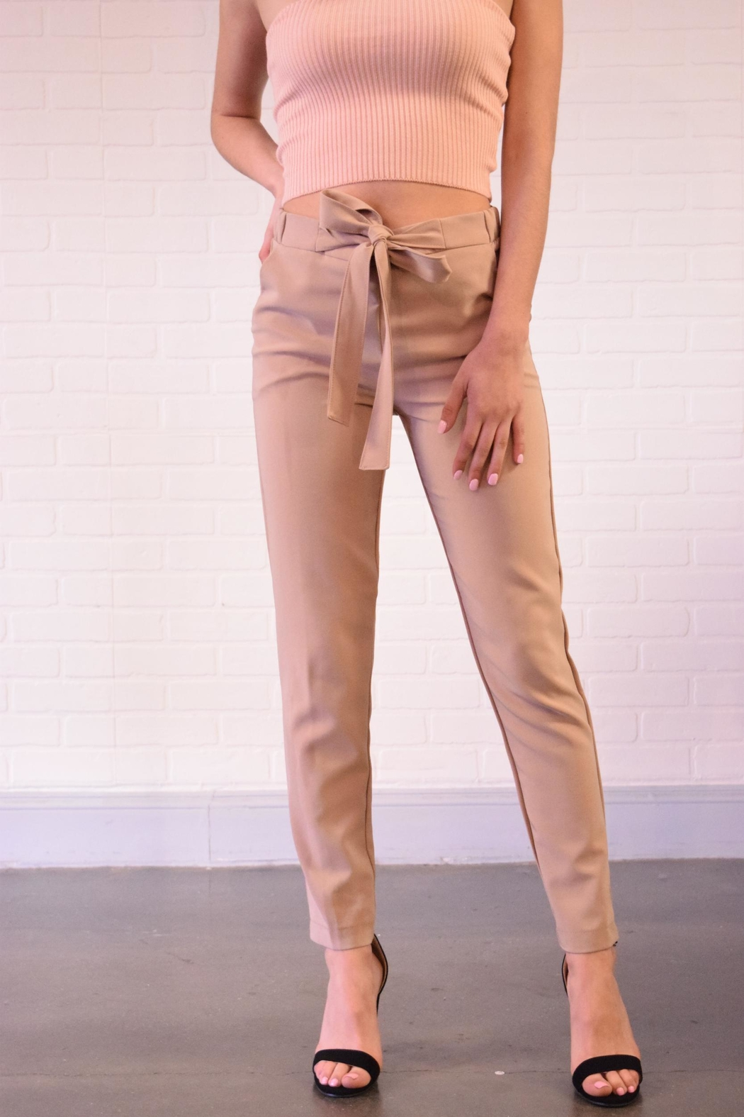 Must Have Tie Front Pants - Front Cropped Image