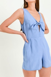Lovetree Tie Front Romper - Front cropped