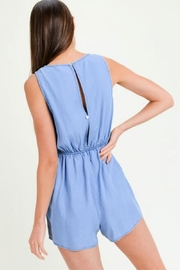 Lovetree Tie Front Romper - Side cropped