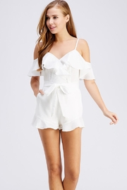 blue blush Tie Front Romper - Front cropped
