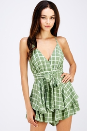 Style Rack Tie Front Romper - Product Mini Image