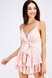 Style Rack Tie Front Romper - Side cropped