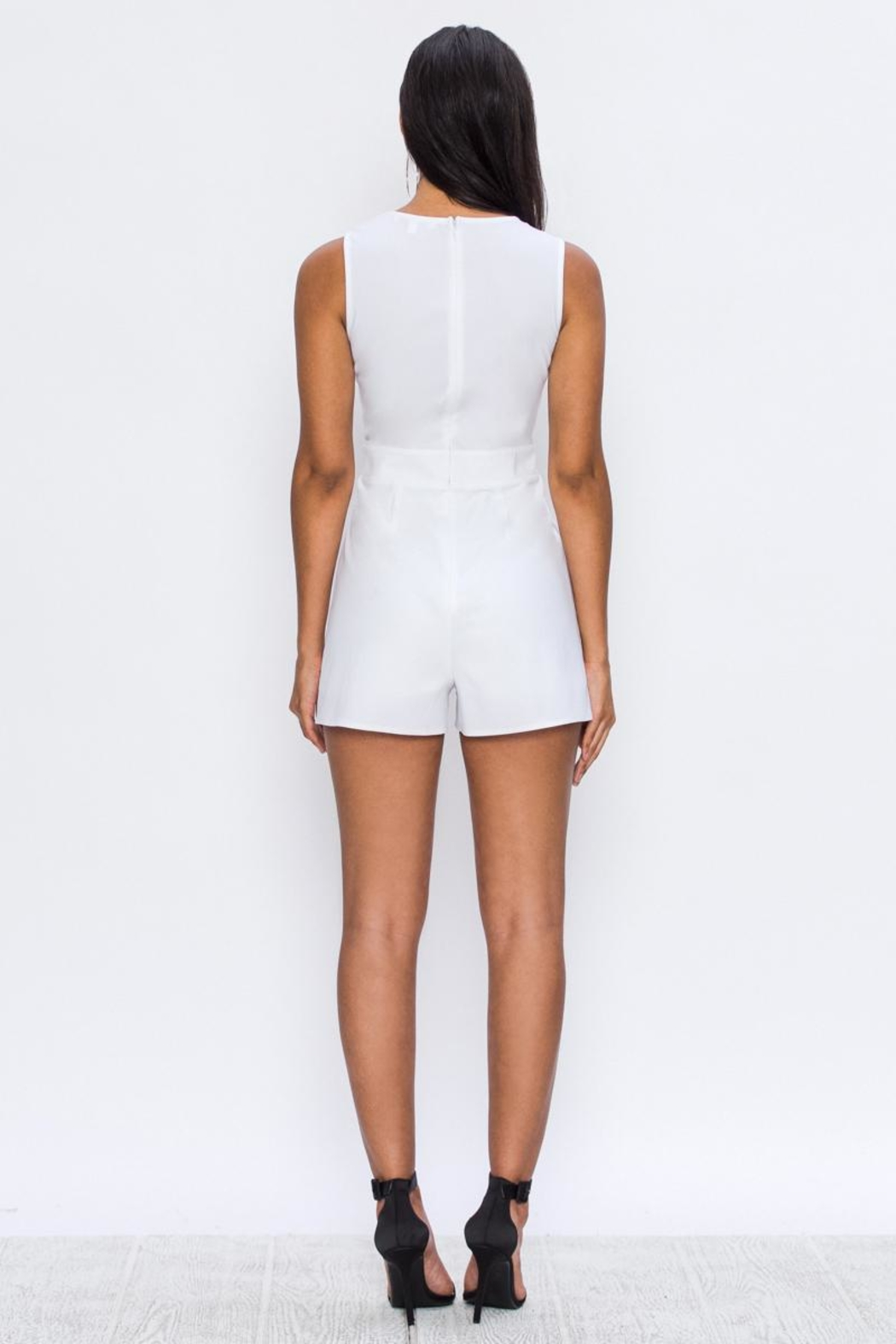 Jealous Tomato Tie Front Romper - Side Cropped Image