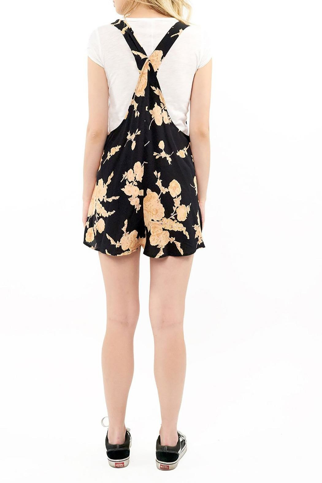 Saltwater Luxe Tie Front Romper - Side Cropped Image