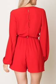 Double Zero Tie Front Romper - Side cropped