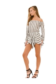 AKAIV Tie Front Romper - Front cropped