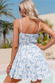 C+D+M Tie Front Ruffled Mini Dress - Back cropped