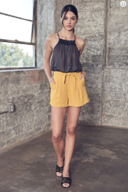 Do + Be  Tie Front Shorts - Product Mini Image