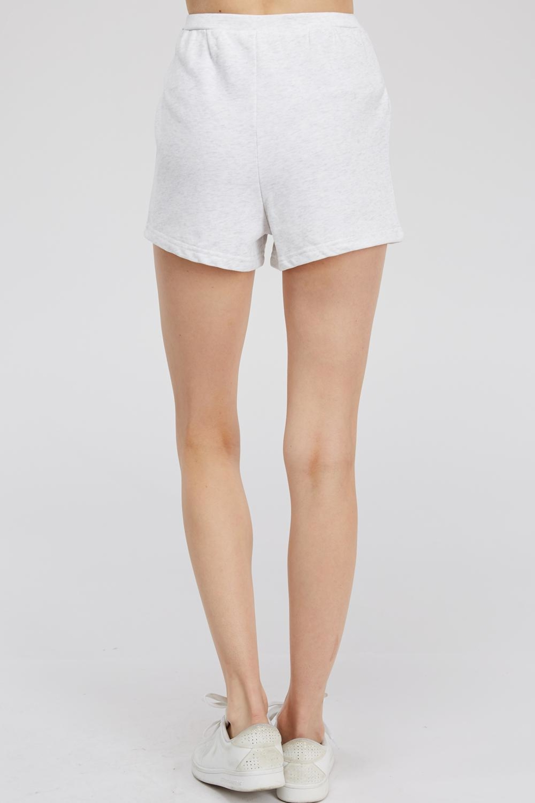 Hey Babe Tie Front Shorts - Back Cropped Image