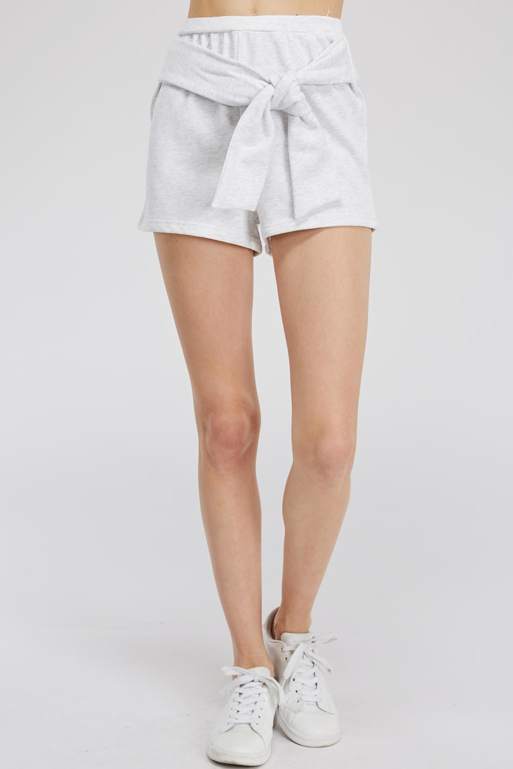 Hey Babe Tie Front Shorts - Main Image