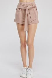 Hey Babe Tie Front Shorts - Front cropped