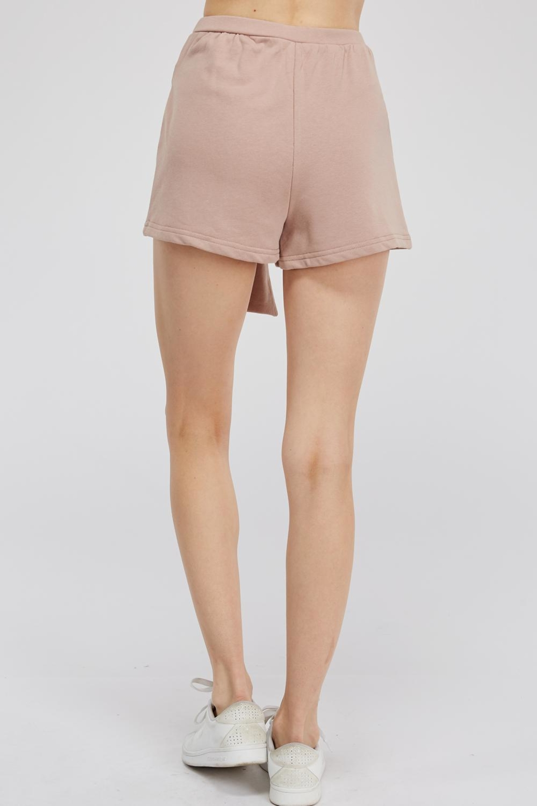Hey Babe Tie Front Shorts - Side Cropped Image