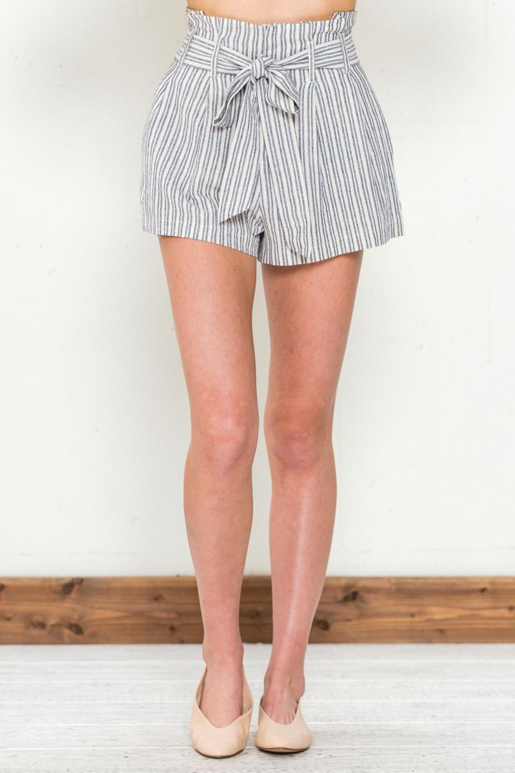 Flying Tomato Tie Front Shorts - Main Image