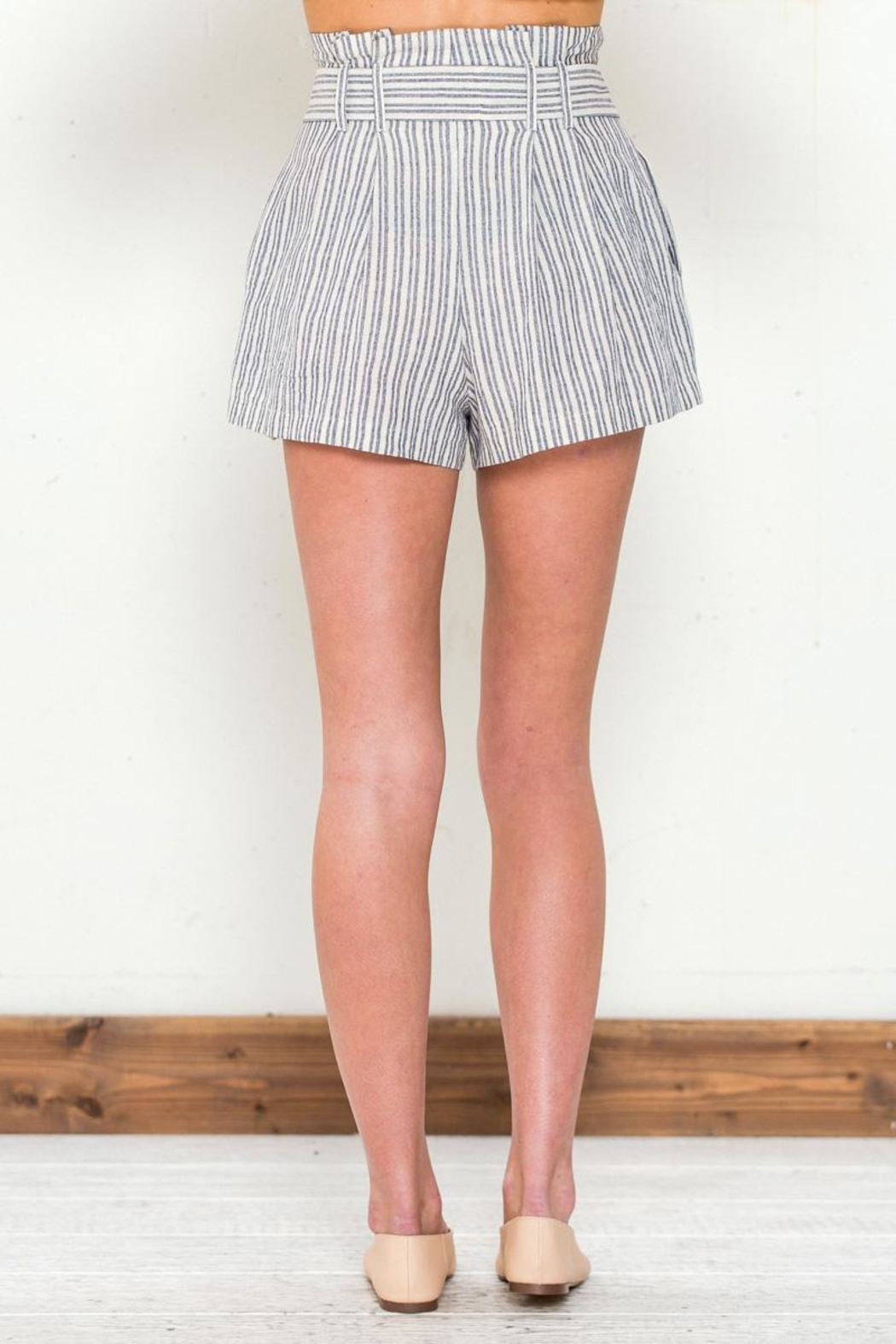 Flying Tomato Tie Front Shorts - Side Cropped Image