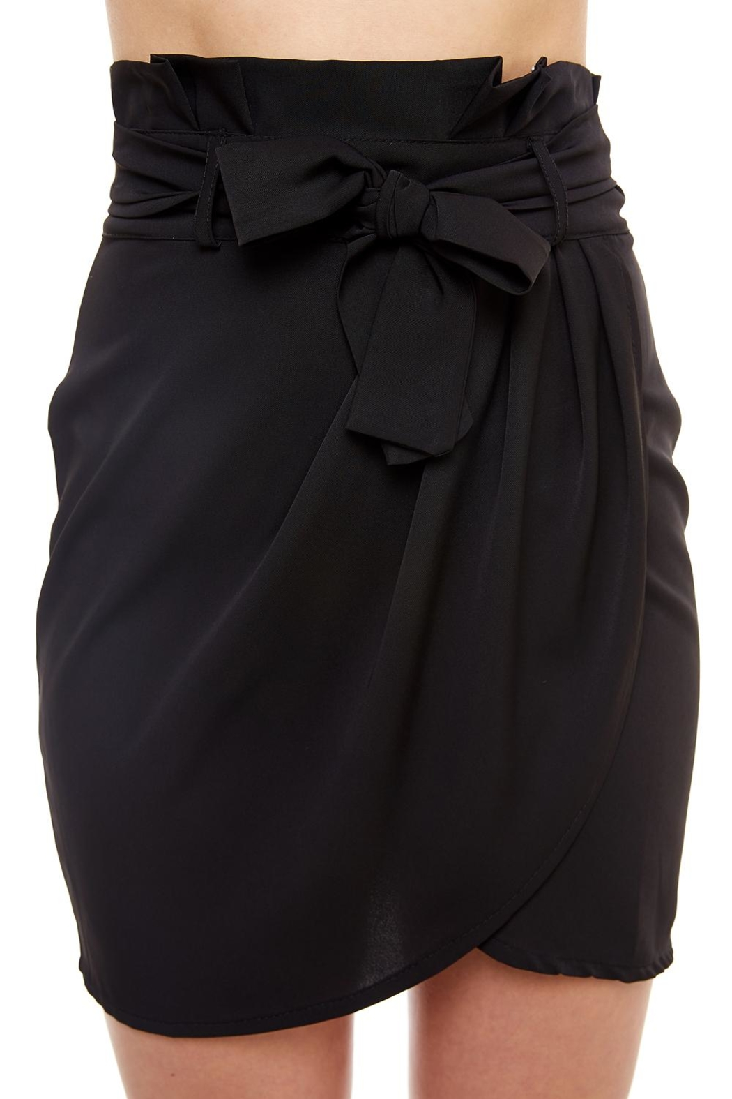 Venti 6 Tie Front Skirt - Back Cropped Image