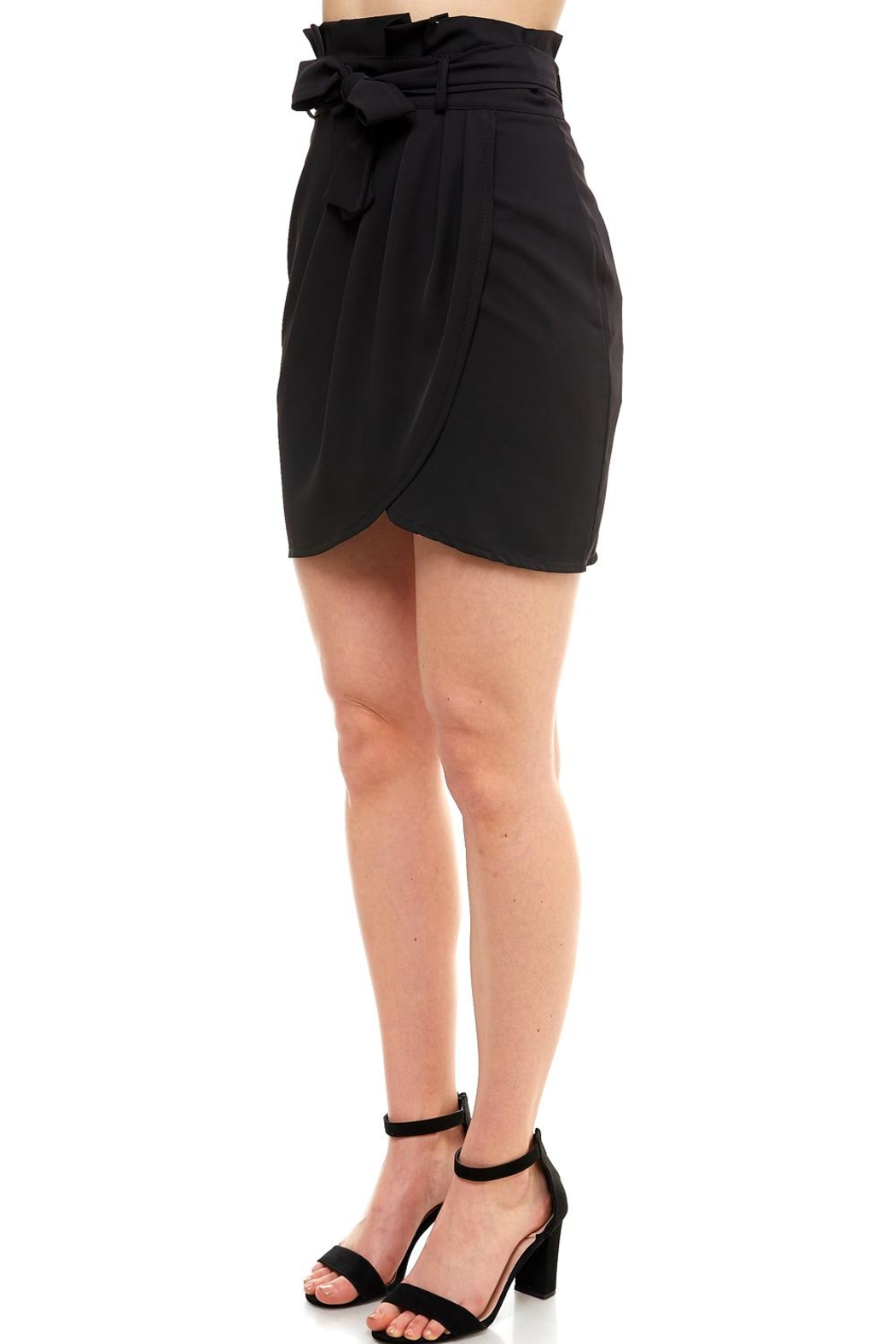 Venti 6 Tie Front Skirt - Front Full Image