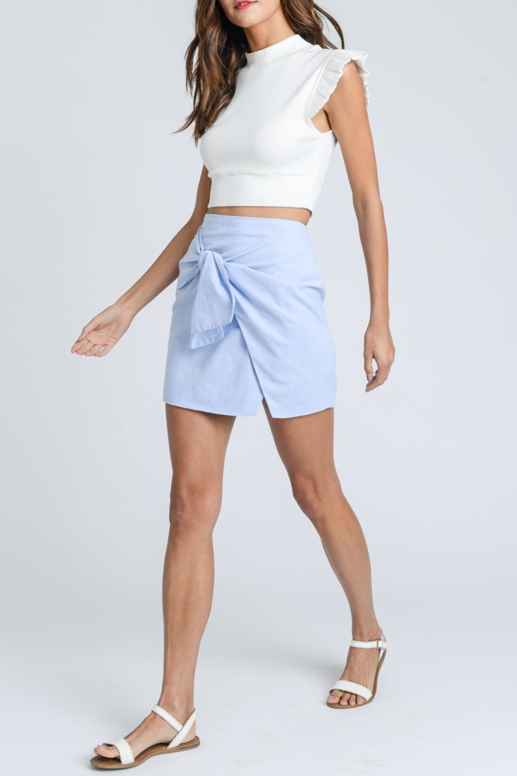 storia Tie Front Skirt - Front Full Image