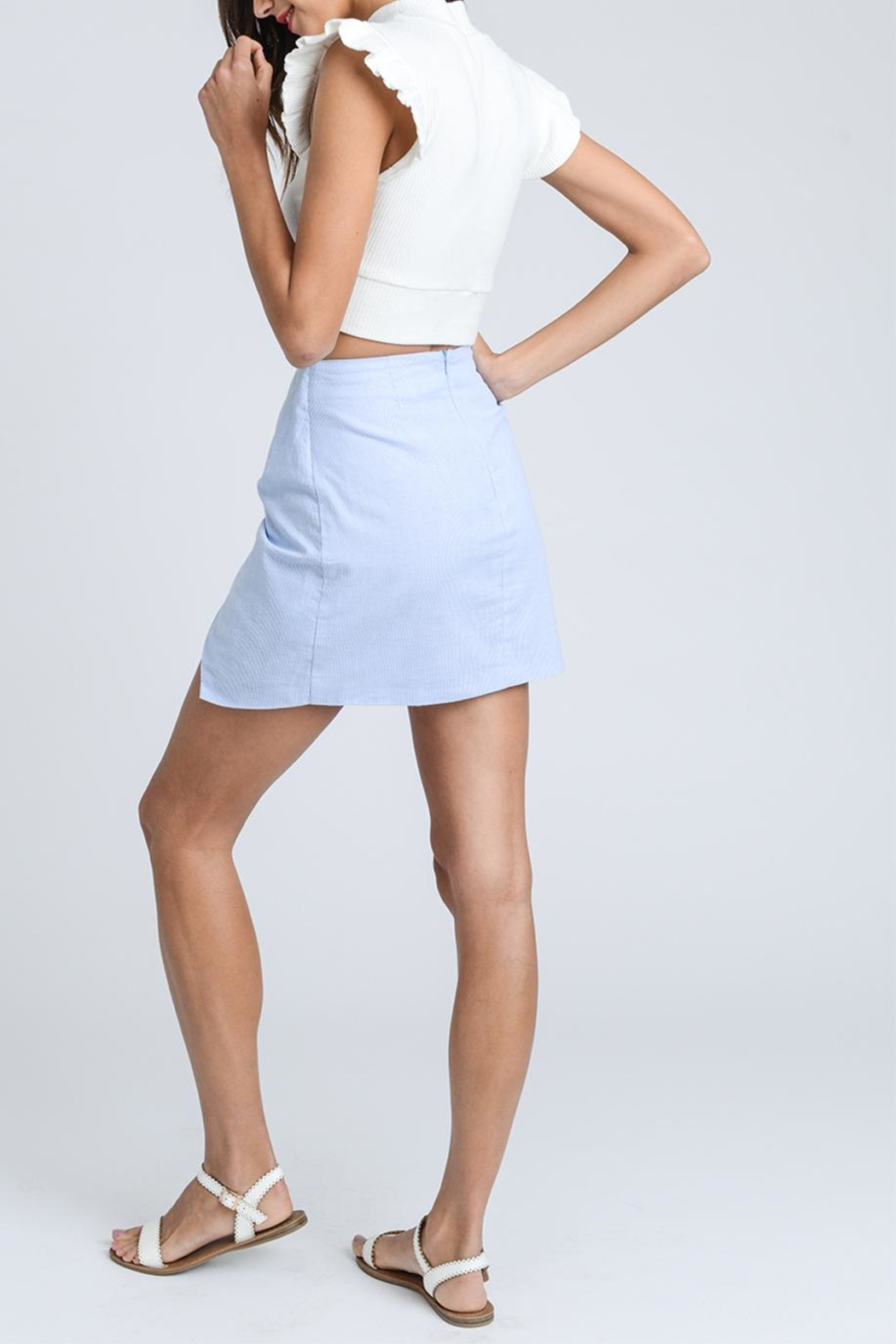 storia Tie Front Skirt - Side Cropped Image