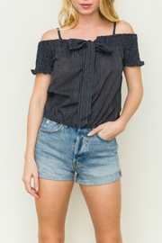 Hem & Thread Tie front strappy top - Product Mini Image