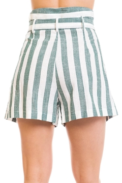 Renamed Clothing Tie-Front Stripe Shorts - Alternate List Image