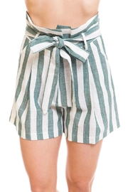 Renamed Clothing Tie-Front Stripe Shorts - Product Mini Image