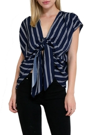 in the Beginning Tie Front Stripetop - Product Mini Image
