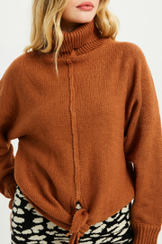 Wishlist Tie front sweater - Front cropped
