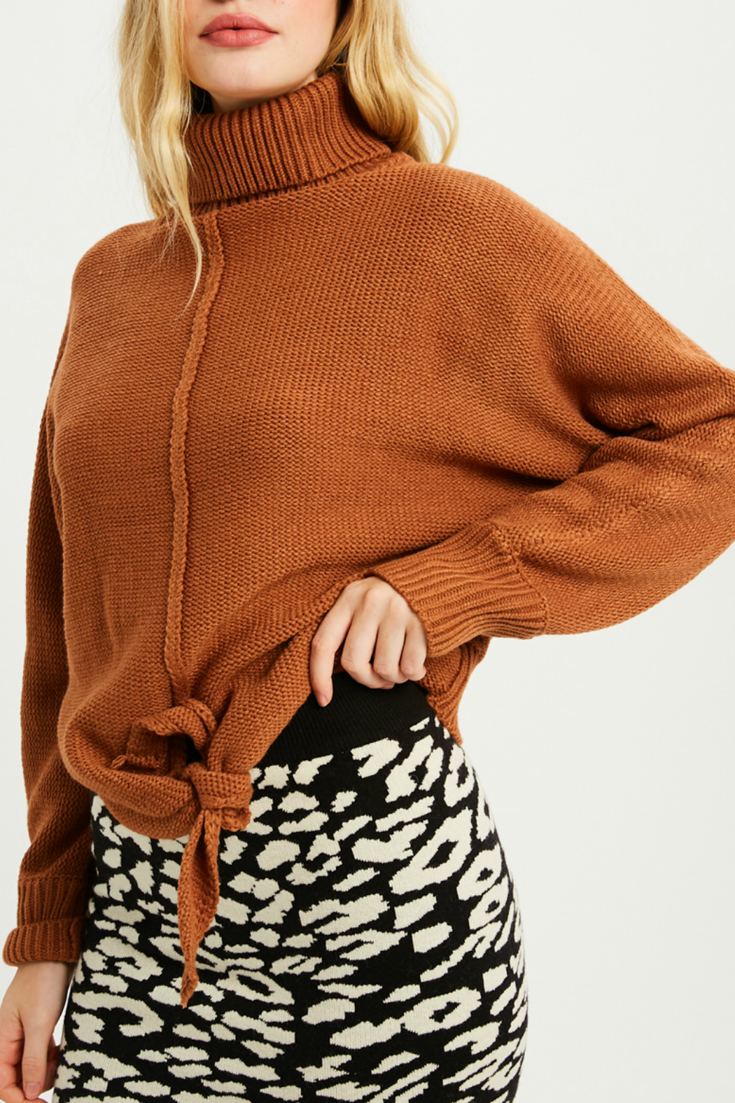 Wishlist Tie front sweater - Front Full Image