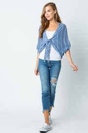 Style Rack Tie Front Sweater - Front full body