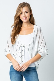 Style Rack Tie Front Sweater - Front cropped