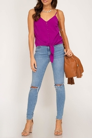 She + Sky Tie Front Tank - Other