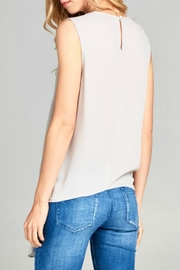 Caramela Tie Front Tank - Side cropped