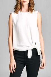 Caramela Tie Front Tank - Front cropped