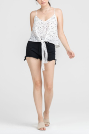 Lush Clothing  Tie Front Tank Top - Front cropped