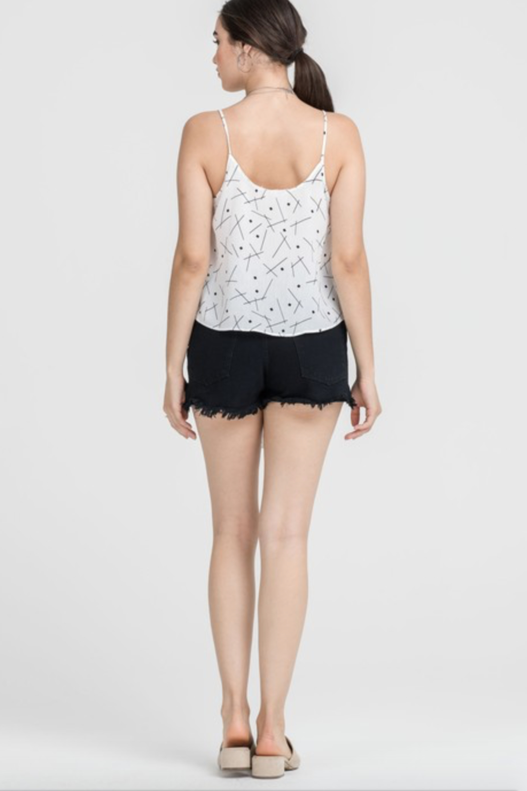 Lush Clothing  Tie Front Tank Top - Front Full Image