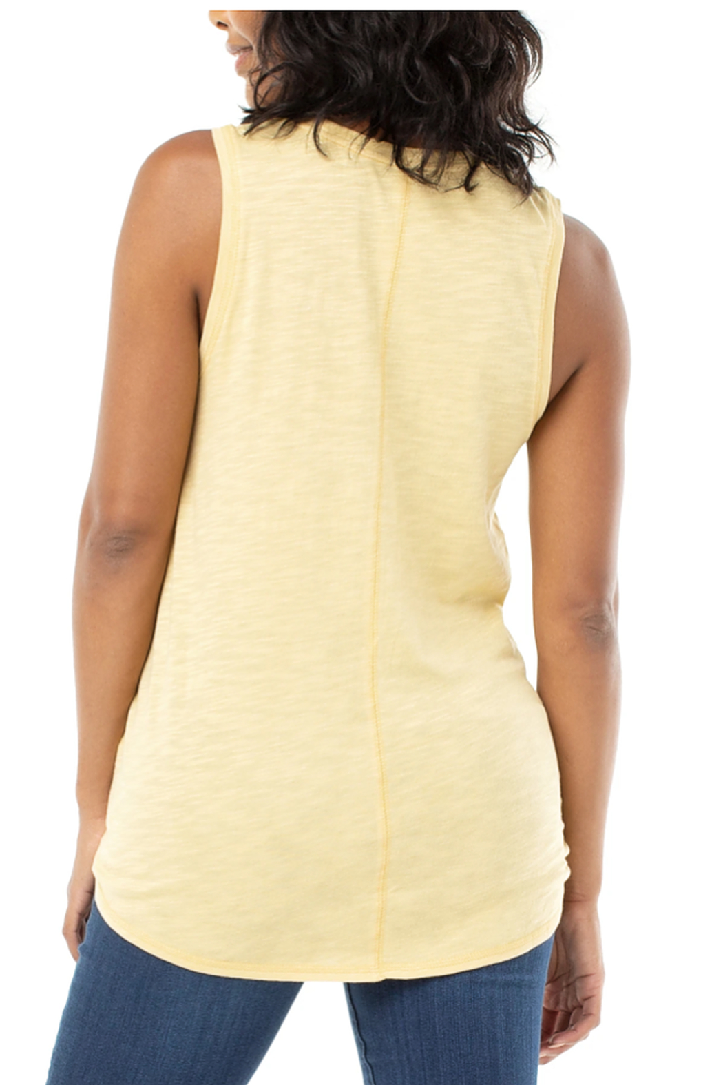 Liverpool Tie Front Tank w/seaming Detail - Front Full Image
